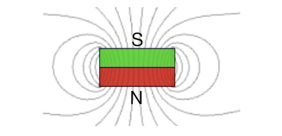 Een schijfmagneet in de vrije ruimte