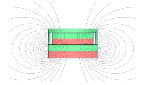 Potmagneet op onbewerkte magneet