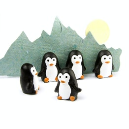 Penguin magnets penguin-shaped fridge magnets, set of 6