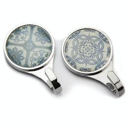 Ganci magnetici 'Azulejos' ganci magnetici con motivi ispirati a piastrelle, set da 2