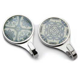 Magnetic hook Azulejos magnetic hooks with tile pattern, set of 2