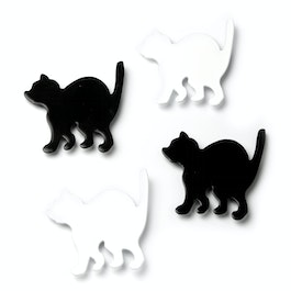 Kitty katten-koelkastmagneten, set van 4