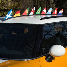 Fan fin country flag magnetic flag for the car