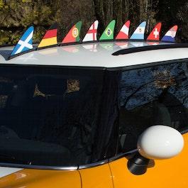 Fanflosse Länderflagge Magnet-Flagge fürs Auto
