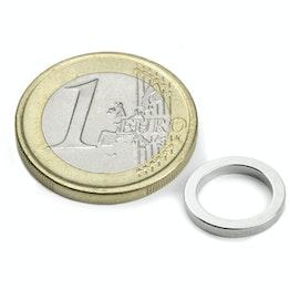 R-12-09-1.5-N Ring magnet Ø 12/9 mm, height 1,5 mm, neodymium, N45, nickel-plated