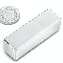 Q-50-15-15-N Parallelepipedo magnetico 50 x 15 x 15 mm, neodimio, N48, nichelato