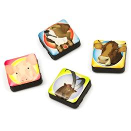 Iconos amigos suizos imanes decorativos cuadrados, 4 uds., con diferentes diseños