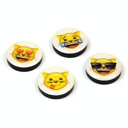 Emoji magneti decorativi con simboli, set da 4, 'gatti'