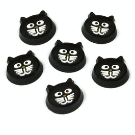 Kitty Cat cat-shaped fridge magnets, set of 6