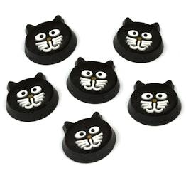 Imanes de nevera «Kitty Cat» con forma de gato, 6 uds.