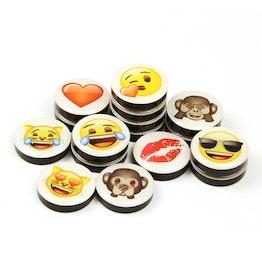 Emoji imanes decorativos con símbolos, 4 uds.