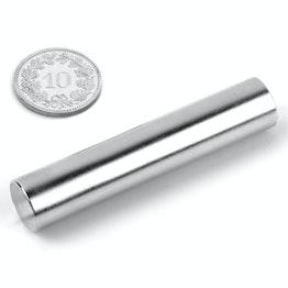 S-12-60-N Rod magnet Ø 12 mm, height 60 mm, holds approx. 5.6 kg, neodymium, N38, nickel-plated