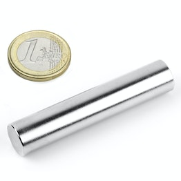 S-12-60-N Rod magnet Ø 12 mm, height 60 mm, neodymium, N38, nickel-plated