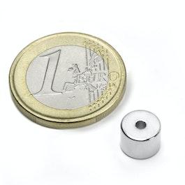 R-08-02-06-N Ring magnet Ø 8/2 mm, height 6 mm, neodymium, N50, nickel-plated