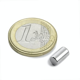 S-05-08-N Rod magnet Ø 5 mm, height 8,47 mm, neodymium, N45, nickel-plated