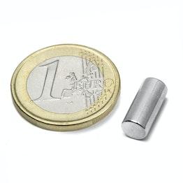 S-06-13-N Rod magnet Ø 6 mm, height 13 mm, neodymium, N48, nickel-plated