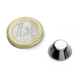 CN-15-08-06-N Cone magnet Ø 15/8 mm, height 6 mm, neodymium, N42, nickel-plated