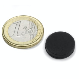 S-15-03-R Disc magnet rubber coated Ø 16,8 mm, height 4,4 mm, water-proof, neodymium, N45
