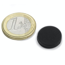 S-15-03-R Disco magnético de goma Ø 16,8 mm, alto 4,4 mm, impermeable, neodimio, N45