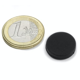 S-15-03-R Disc magnet rubber coated Ø 16,8 mm, height 4,4 mm, neodymium, N45
