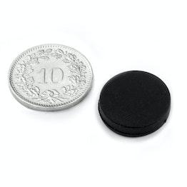 S-15-03-R Schijfmagneet met rubber coating Ø 16.8 mm, dikte 4.4 mm, waterdicht, neodymium, N45