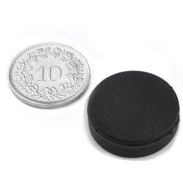 S-20-05-R Disc magnet rubber coated Ø 22 mm, height 6.4 mm, water-proof, neodymium, N42