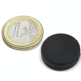S-20-05-R Disc magnet rubber coated Ø 22 mm, height 6,4 mm, water-proof, neodymium, N42