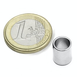 R-09-07-11-N Ring magnet Ø 9/7 mm, height 11 mm, neodymium, N50, nickel-plated