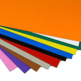 Coloured magnetic sheet for labelling and arts & crafts, A4 format