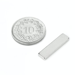 Q-20-05-02-HN Blokmagneet 20 x 5 x 2 mm, neodymium, 44H, vernikkeld