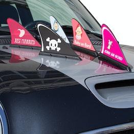 Aileron de requin tient env. 15 kg, gadget magnétique pour votre voiture