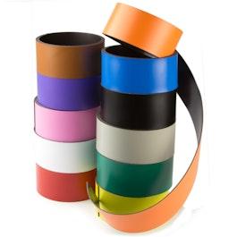 Gekleurd magneetband 40 mm om zelf te beschrijven en op maat te knippen, rollen à 1 m