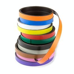 Bande magnétique couleur 10 mm pour y écrire et pour découper, rouleaux d'1 m