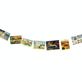 Cuerda para fotos 2 m con 2 lazos, incl. 20 imanes