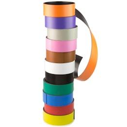 Cinta magnética de colores 30 mm para rotular y cortar, rollos de 1 m
