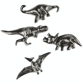 Dinosaurs decorative fridge magnets, set of 4