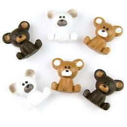 Beertjes magneten koelkastmagneten in de vorm van beren, set van 6