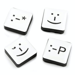 Emoticons fridge magnets square, set of 4