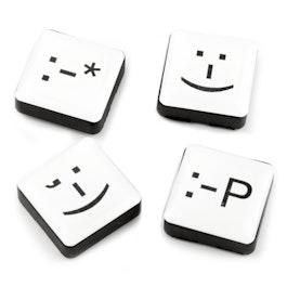 Emoticons magneti decorativi quadrati, set da 4