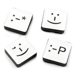 Emoticonos magnéticos sujeta aprox. 650 g, imanes decorativos cuadrados, 4 uds.