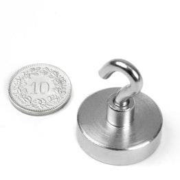 FTN-25 Hook magnet Ø 25 mm, thread M4, strength approx. 18 kg