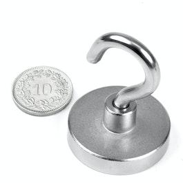 FTN-32 Hook magnet Ø 32 mm, thread M5, strength approx. 30 kg