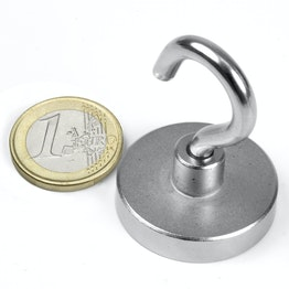 FTN-32 Hook magnet Ø 32 mm, thread M5, strength approx. 30 kg