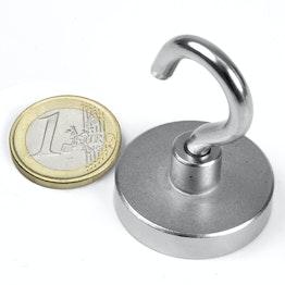 FTN-32 Hook magnet Ø 32 mm, holds approx. 30 kg, thread M5,