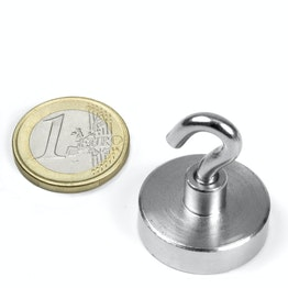 FTN-25 Hook magnet Ø 25 mm, thread M4, strength approx. 18 kg