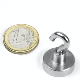 FTN-20 Hook magnet Ø 20 mm, thread M4, strength approx. 13 kg