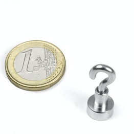FTN-10 Hook magnet Ø 10 mm, holds approx. 3 kg, thread M3,