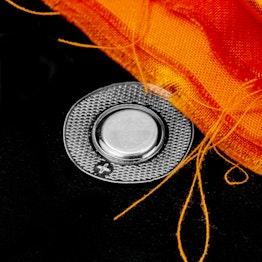 Innaaibare magneten 12 x 2 mm rond houdt ca. 1.2 kg, waterdicht, met rond pvc hoesje