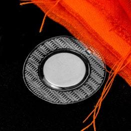 Magneti da cucire 18 x 2 mm rotondi tiene ca. 1,9 kg, impermeabili, con guaina rotonda in PVC