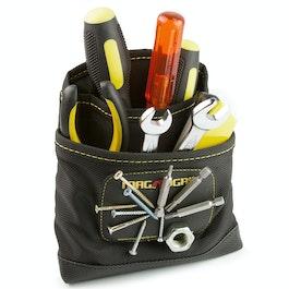 Sacoche à outils magnétique petite pour clous, vis, embouts, etc., avec 3 poches